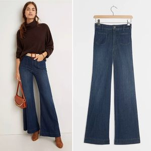 Pilcro Patch-Pocket Ultra High-Rise Flare Jeans